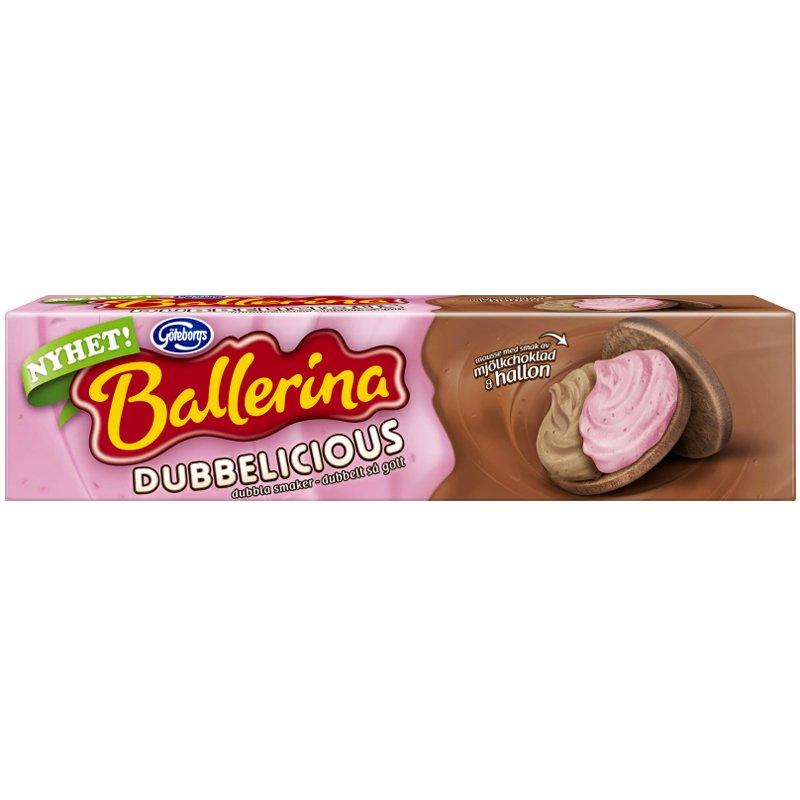 Ballerina Mjölkchoklad & Hallon 185g - 41% rabatt