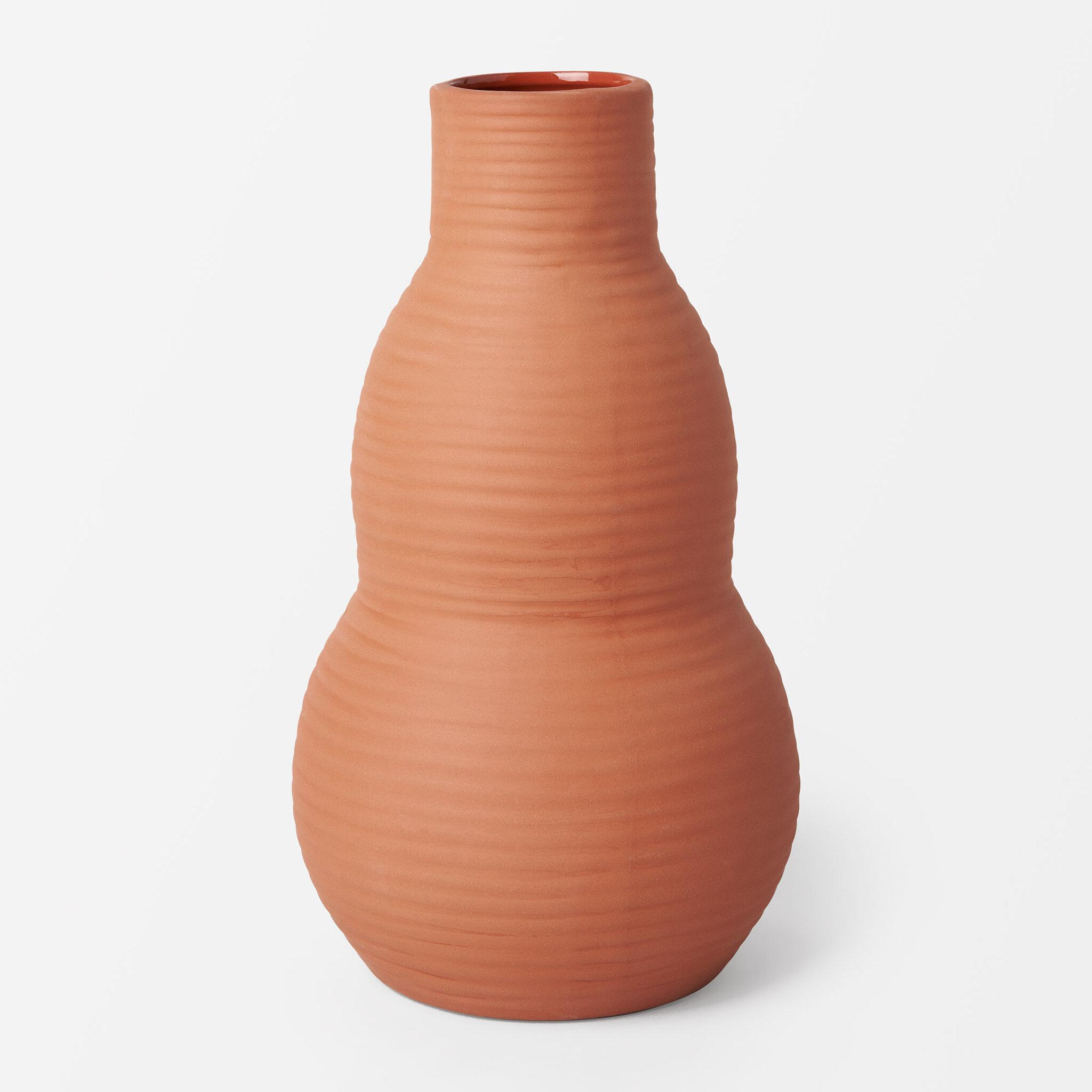 Vas i terrakotta TUA, Dia11,6xH20,2cm