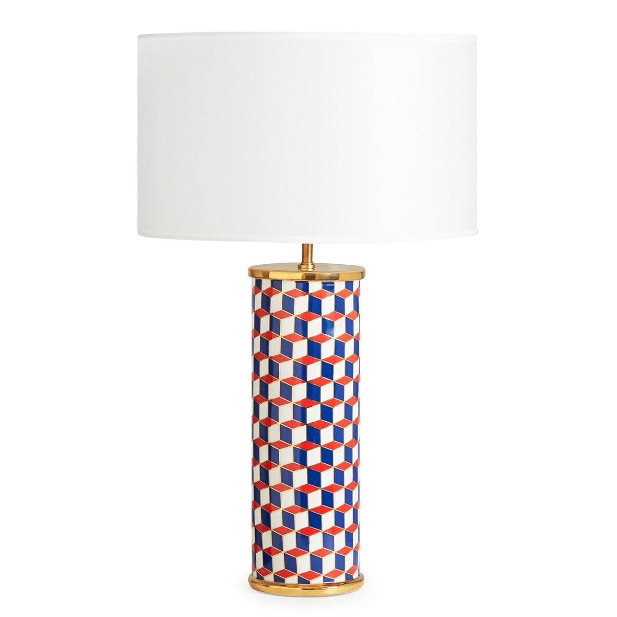 Jonathan Adler I Carnaby Table Lamp I Red & Blue