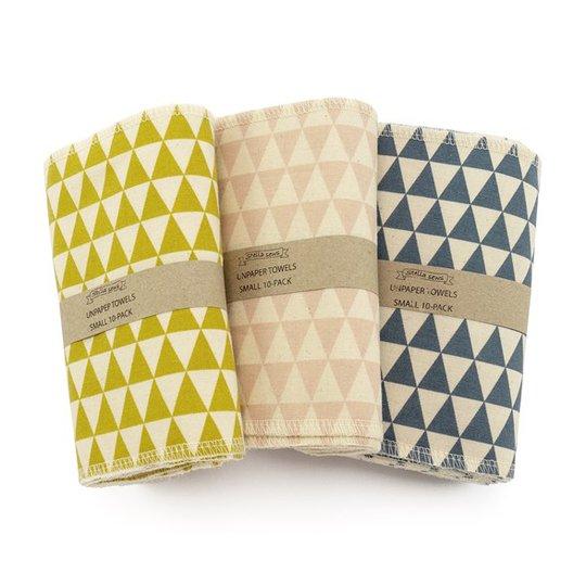 Hildebrandt Sustainable Living Unpaper Towels Mönstrade - Small, 10-pack
