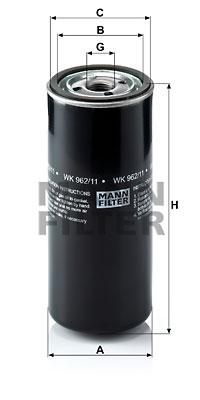 Polttoainesuodatin MANN-FILTER WK 962/11