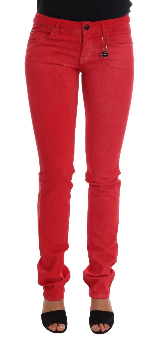 Costume National Women's Cotton Stretch Slim Jeans Red SIG30121 - W26