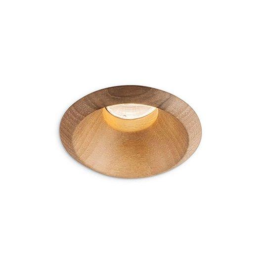 LEDS-C4 Play Raw downlight valnøtt 927 6,4W 50°