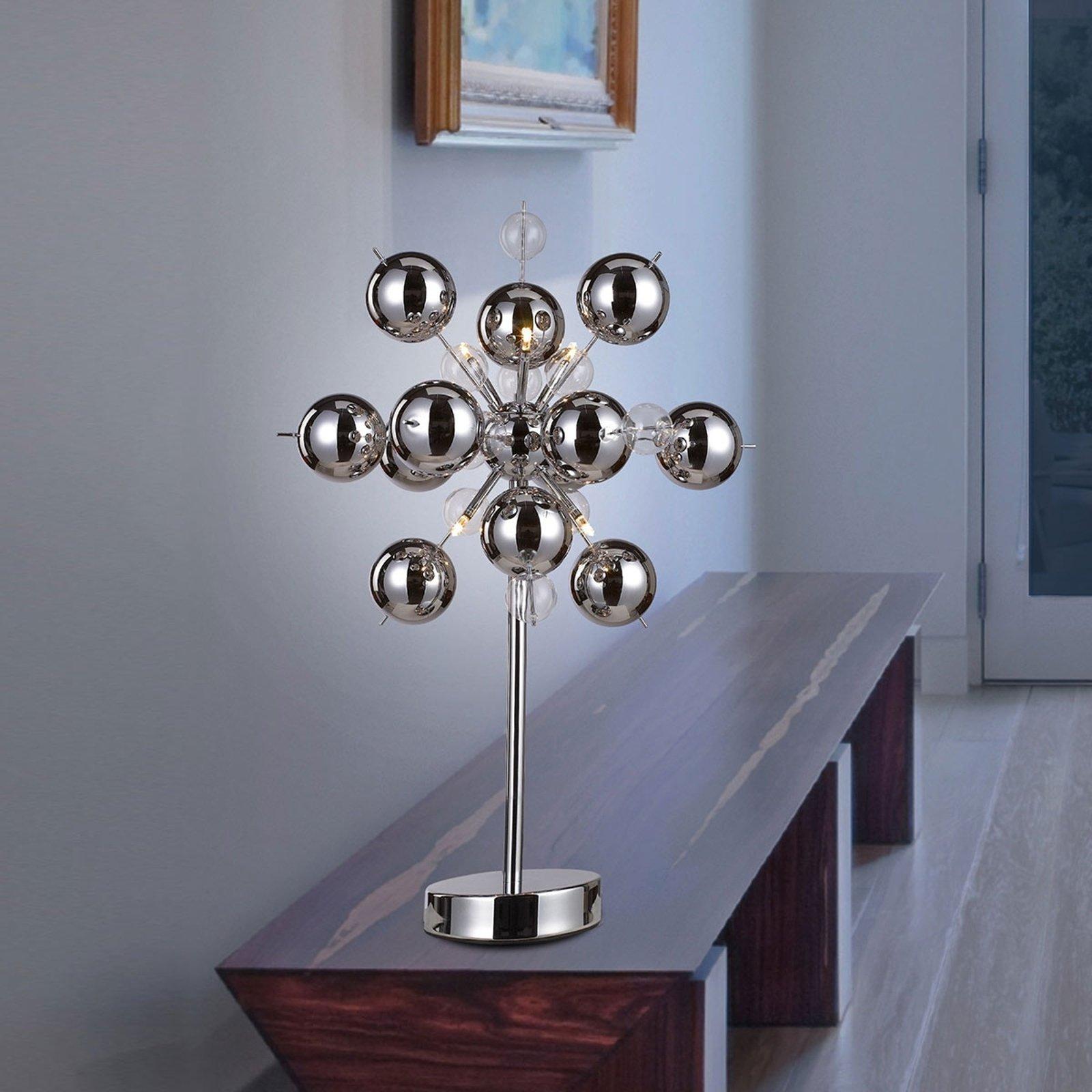 Spesiell bordlampe Wakusei, krom
