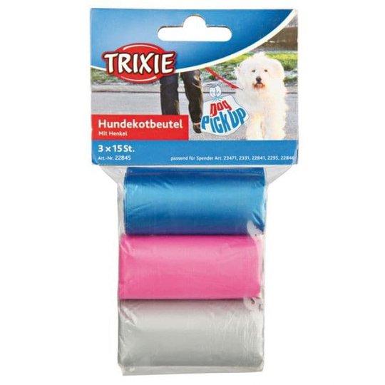 Trixie Bajspåsar med handtag 3x15-pack