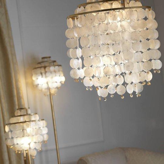 Ruben gulvlampe med perlemorskiver