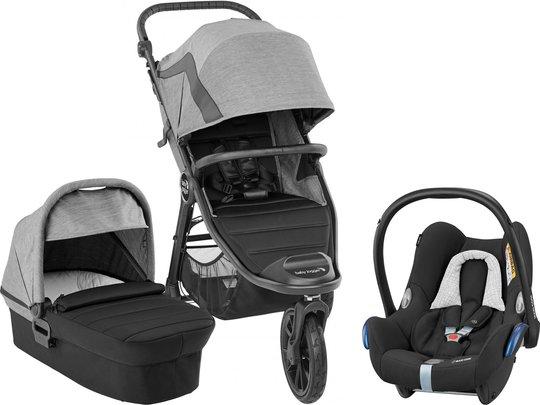 Baby Jogger City Elite 2 Duovogn inkl. Maxi-Cosi CabrioFix, Barré