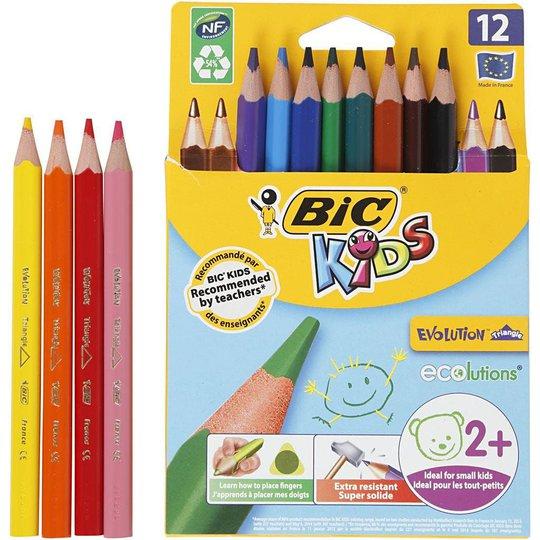 Bic Evolution Fargeblyanter Miksede Farger 12stk