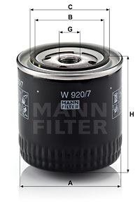 Öljynsuodatin MANN-FILTER W 920/7 y