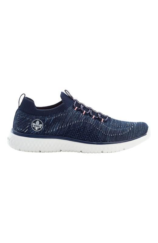 Rieker Stickade sneakers Marin Silver