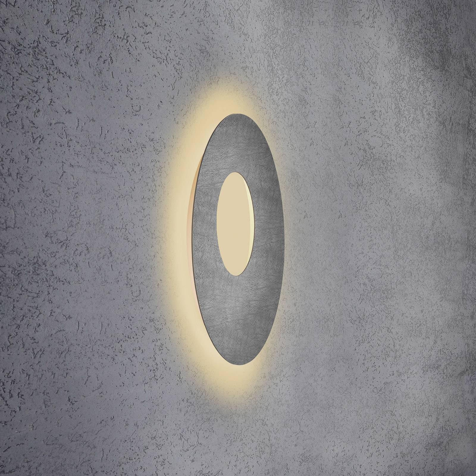 Escale Blade Open LED-vegglampe, betong, Ø 59 cm