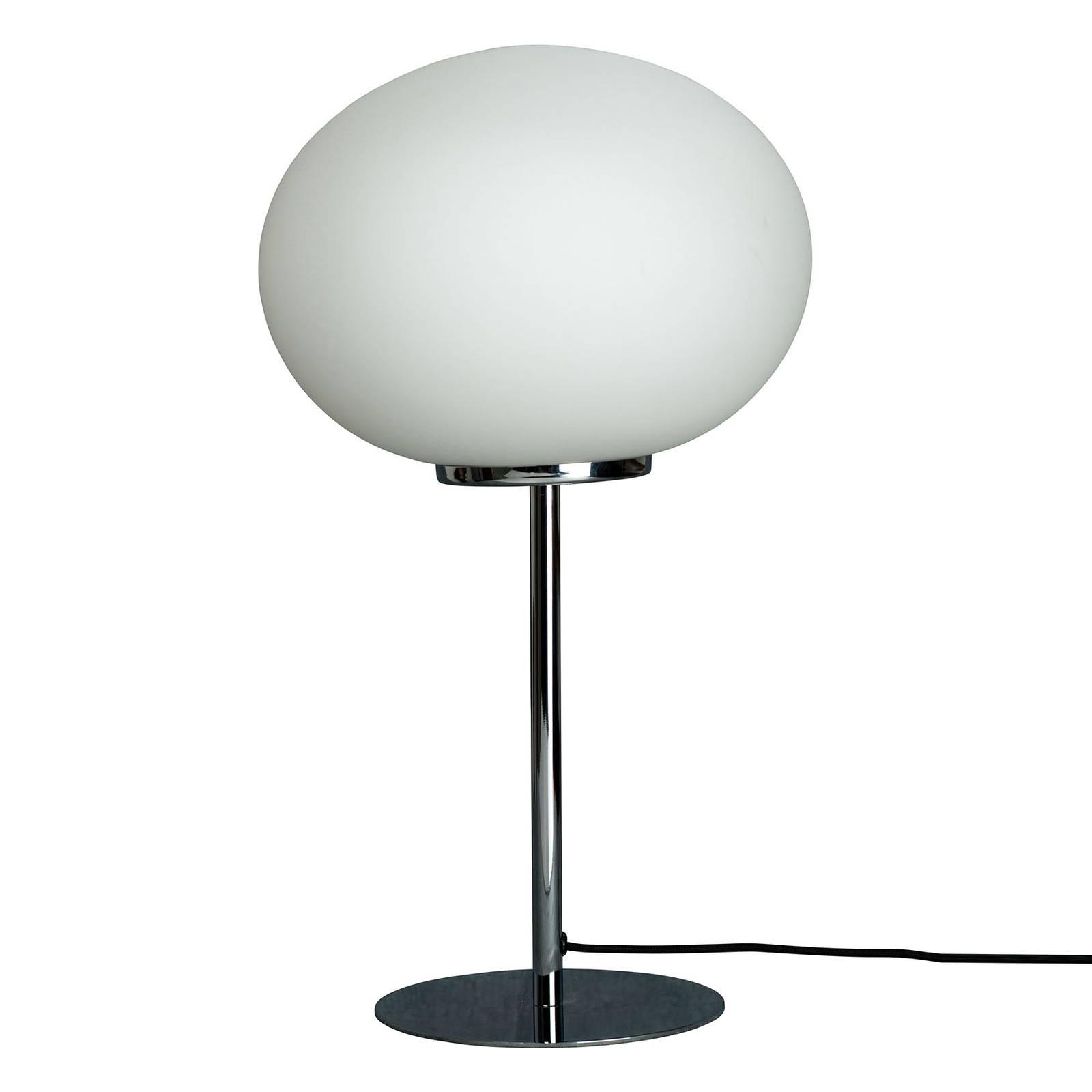 Dyberg Larsen Queen -pöytälamppu, kromattu runko