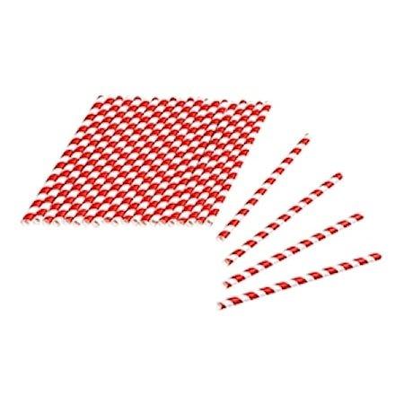 Tala Sugerør av papir Rød-/hvitstripete