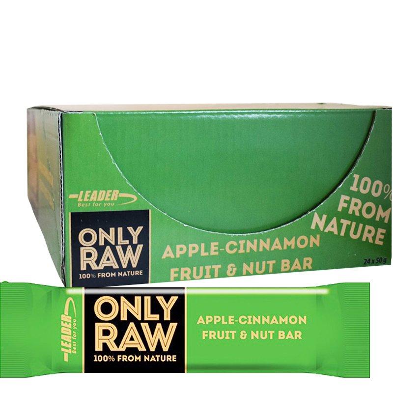 """Laatikollinen Hedelmä-Pähkinäpatukoita """"Apple & Cinnamon"""" 24 x 50g - 51% alennus"""