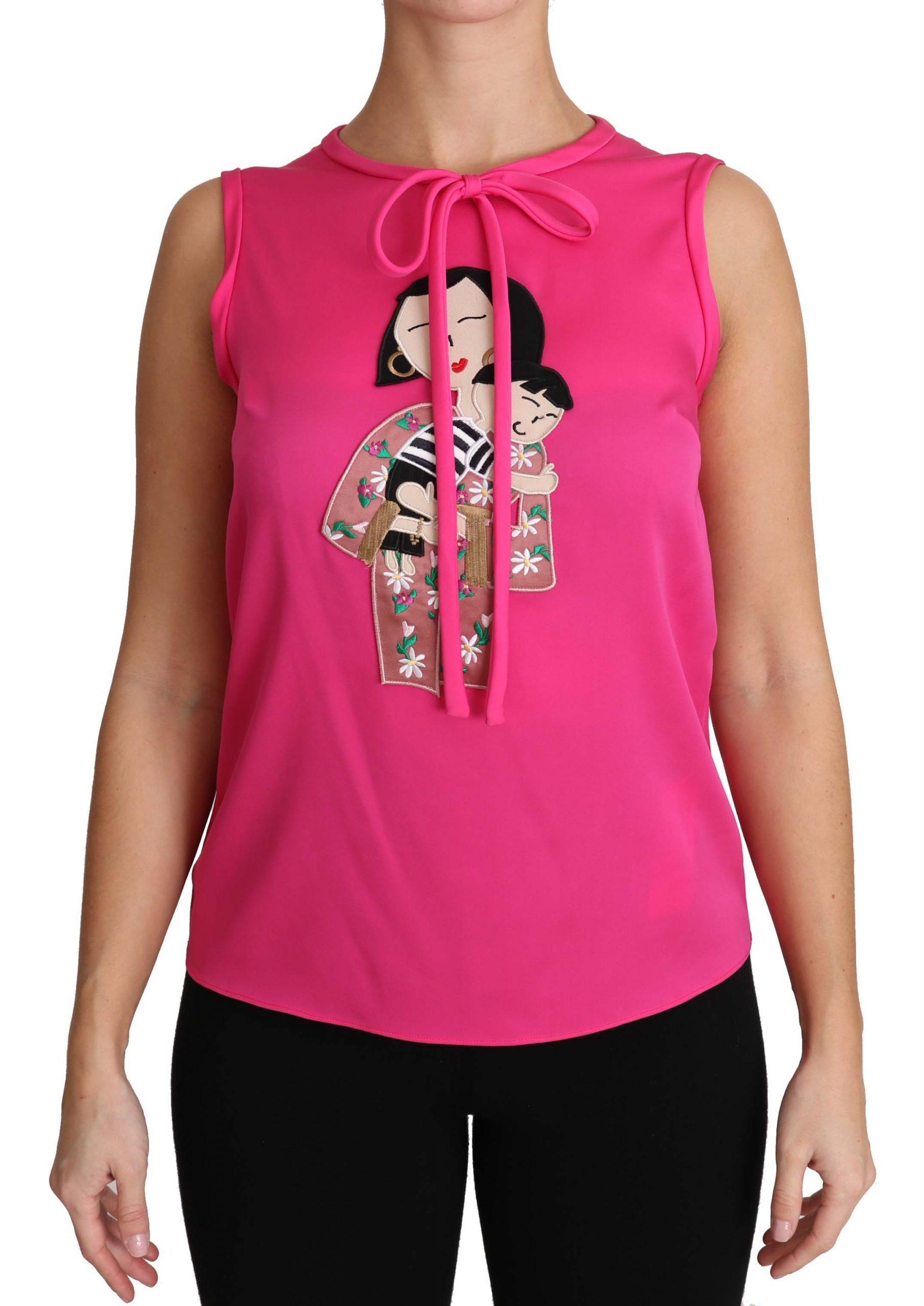 Dolce & Gabbana Women's Family Tops Pink TSH3161 - IT36 XXS
