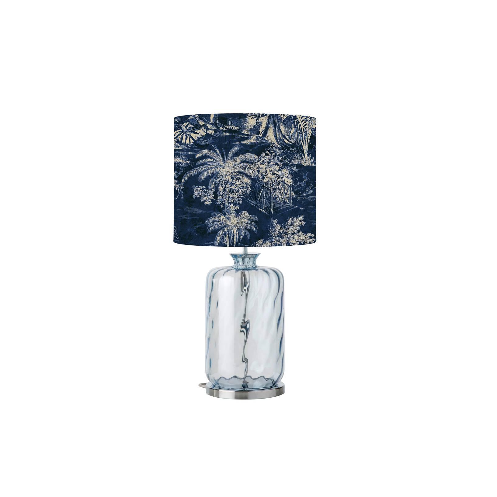 EBB & FLOW Pillar -pöytälamppu, Palms indigo/blue