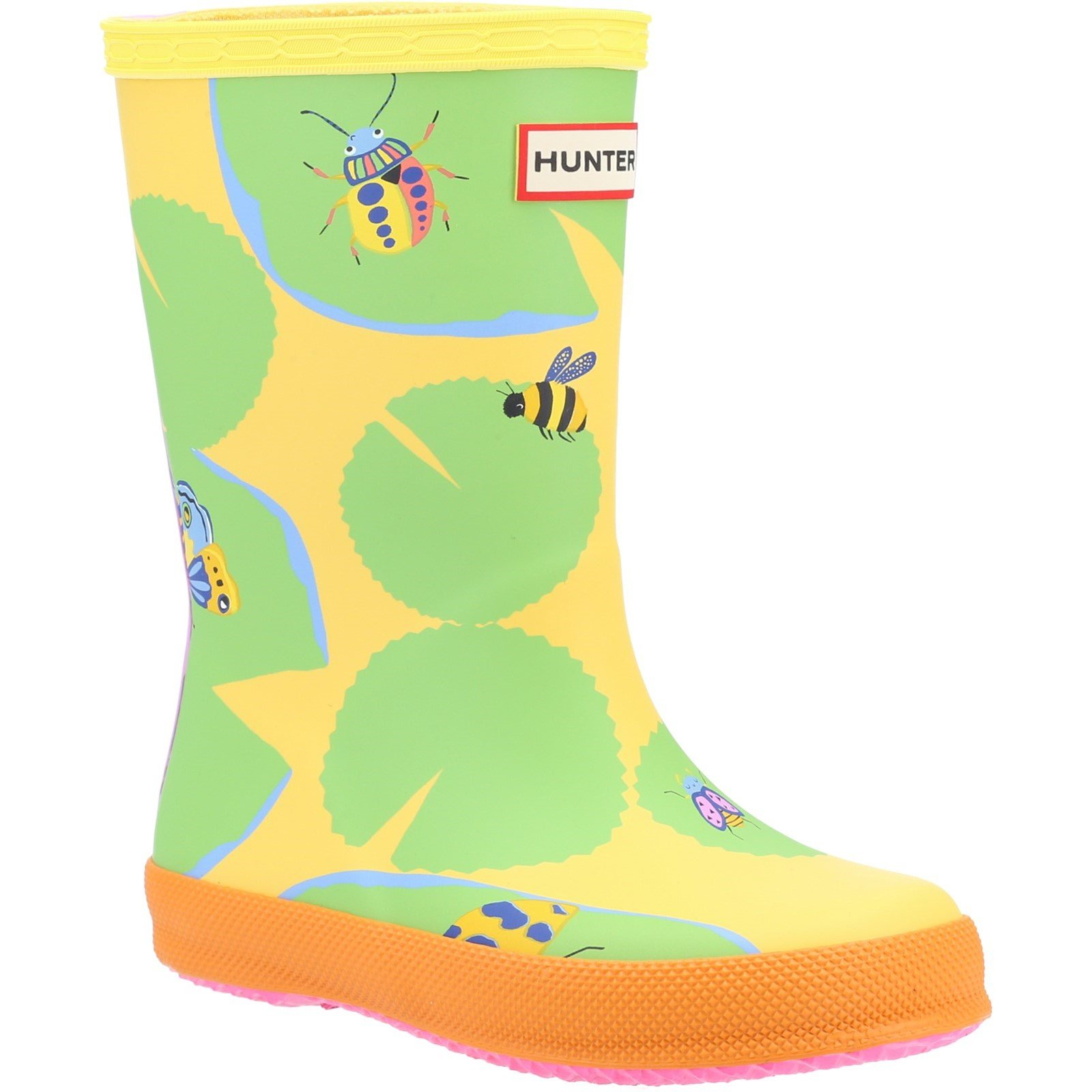 Hunter Unisex First Classic Lilly Pad Wellington Boot Multicolor 32442 - Sunflower Lilypad Print 4