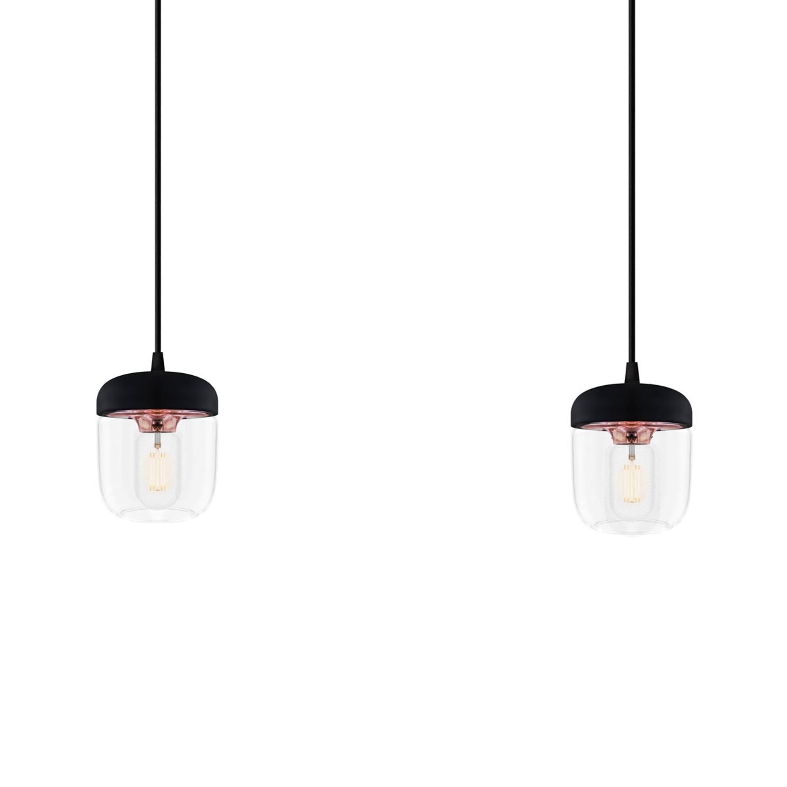 Mustaa ja kuparia – riippuvalaisin Acorn 2 lamppua