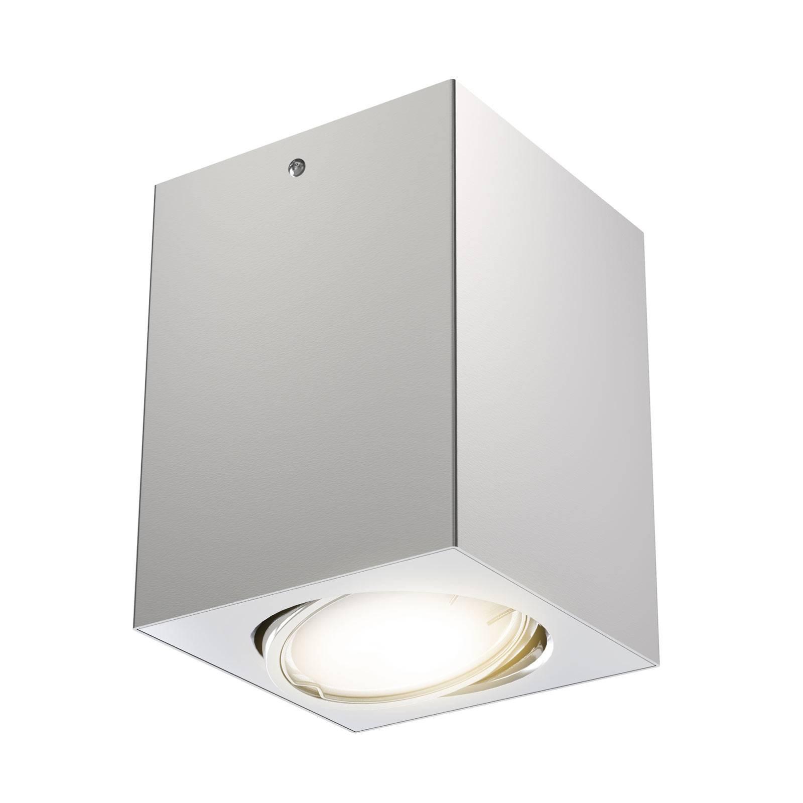 LED-taklampe 7120 med GU10-LED-pære, sølv