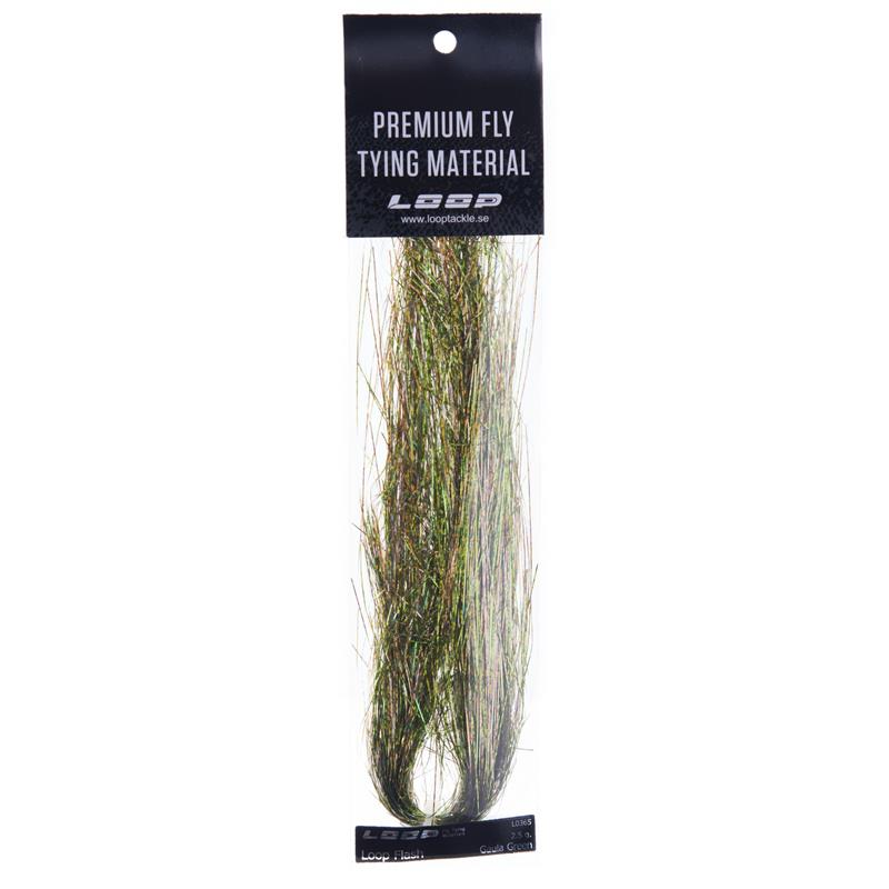 Loop Flash 2,5g - Gaula Green Ekstra lange fibre (20cm)