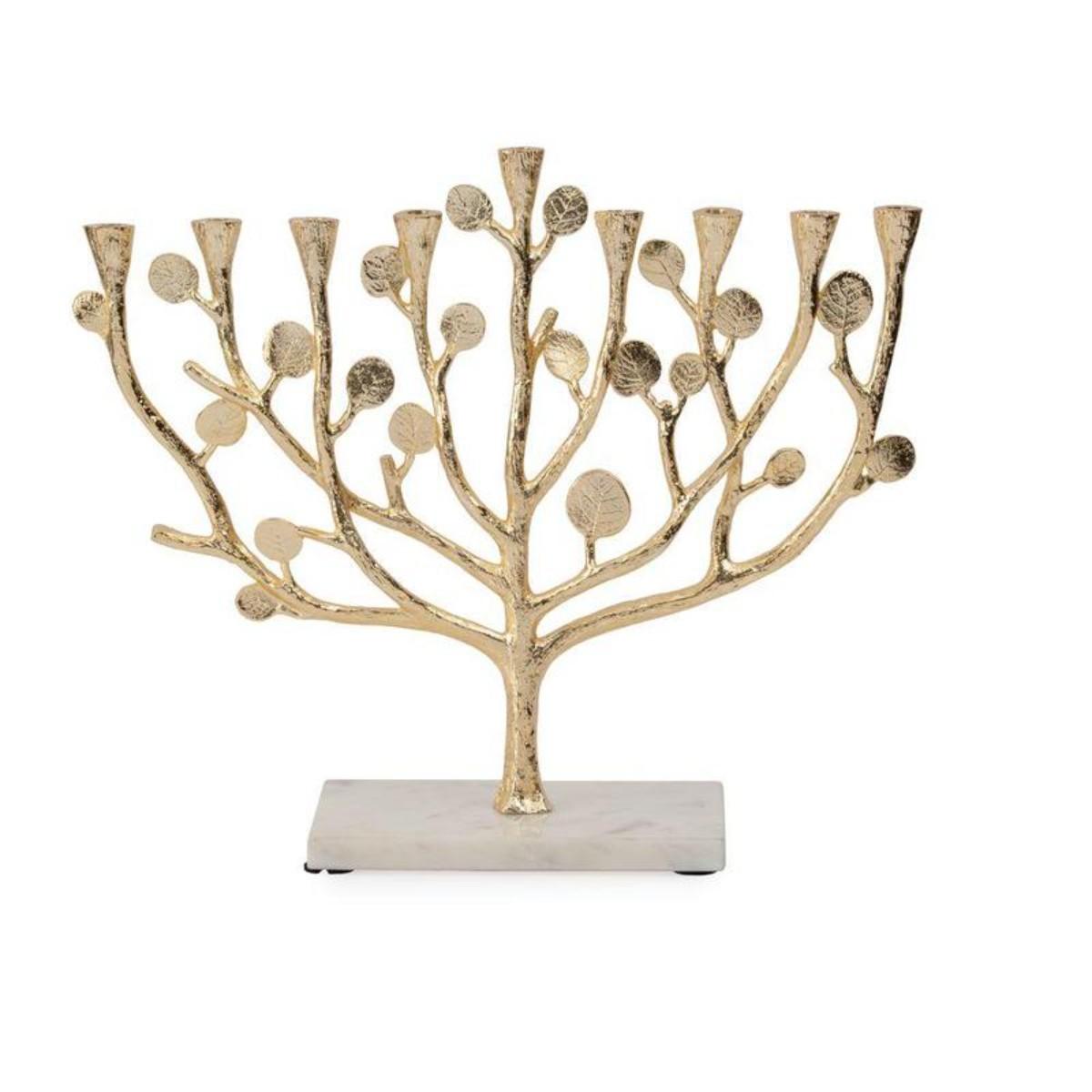 Michael Aram I Botanical Leaf Gold Menorah