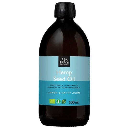 Urtekram Food Ekologisk Hampfröolja Kallpressad, 500 ml