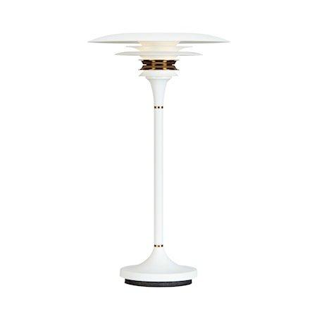Diablo Bordlampe Hvit/Messing 20 cm LED