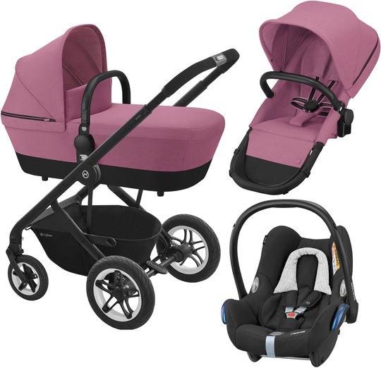 Cybex Talos S 2-in-1 Duovogn inkl. Maxi-Cosi CabrioFix Babybilstol, Magnolia Pink