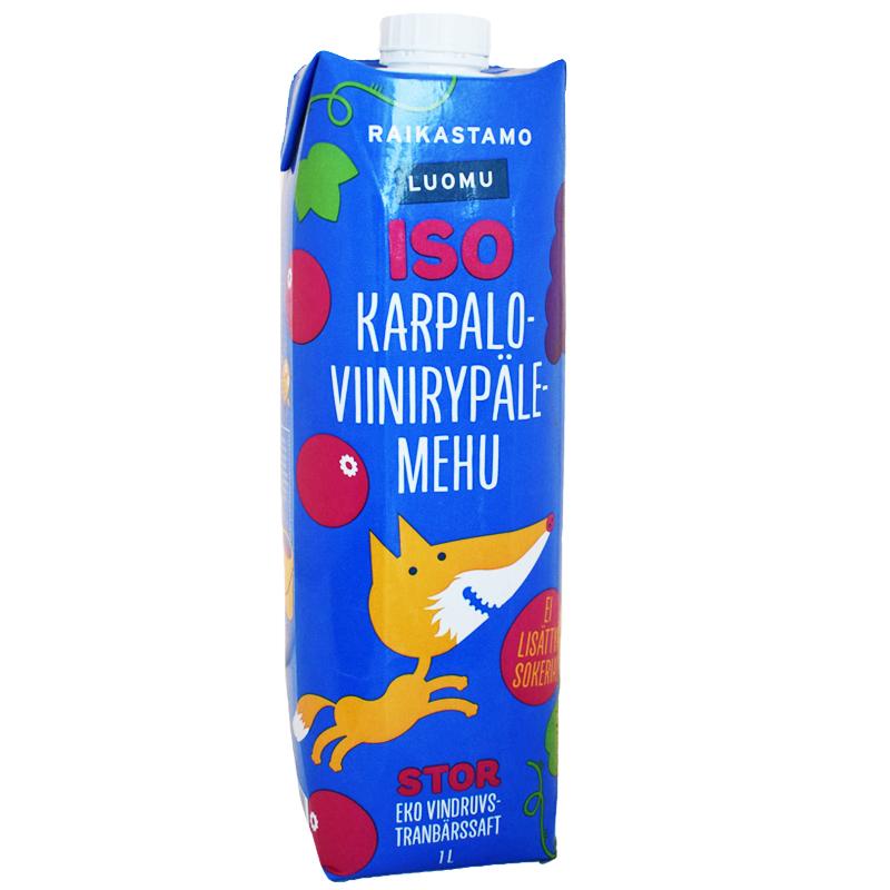 Luomu Karpalo-Viinirypälemehu 1L - 23% alennus