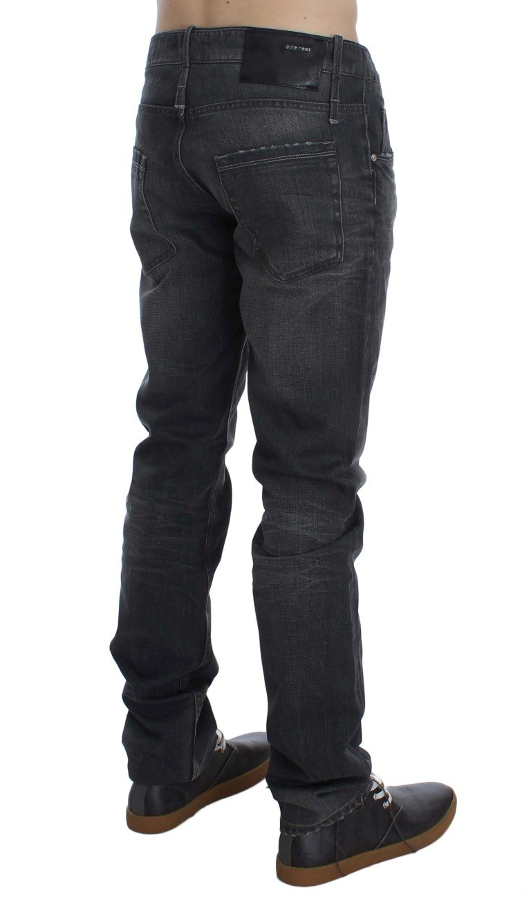 ACHT Men's Cotton Regular Low Fit Jeans Gray SIG30455 - W34