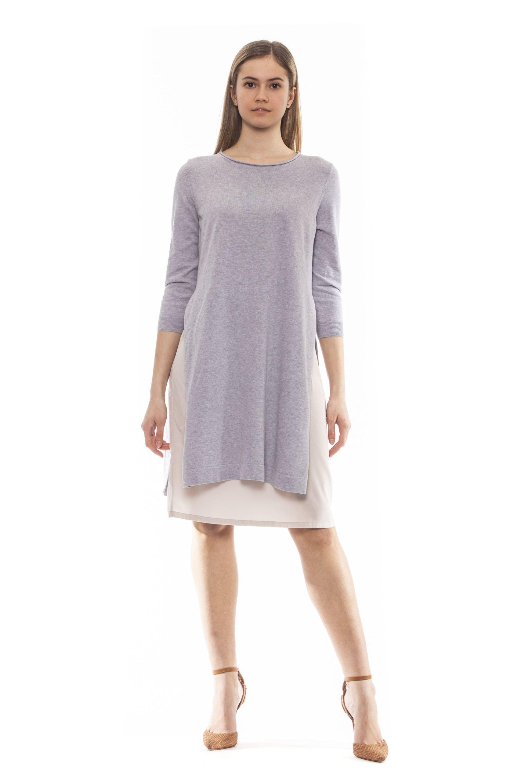 Peserico Women's Grigio Dress Grey PE1381560 - IT42   S