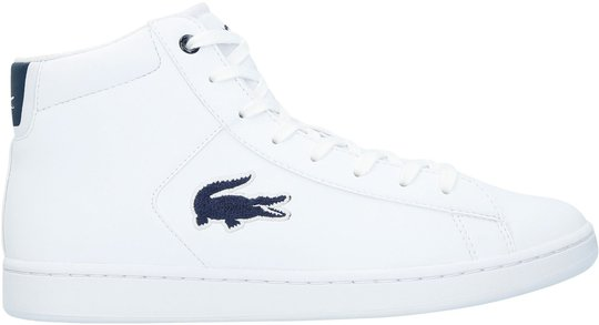 Lacoste Carnaby Evo Mid 3181 Sneaker, White/Navy 34,5