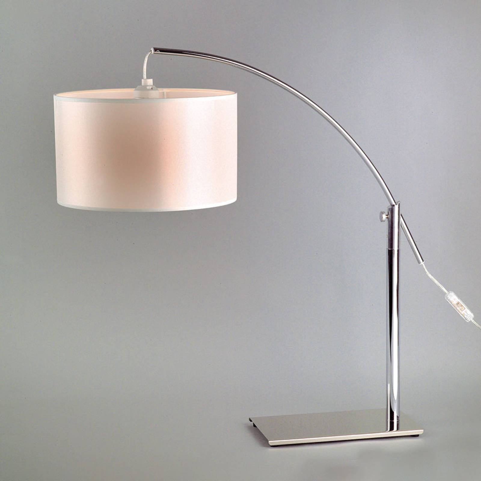 Rainbow LT bordlampe hvit/krom