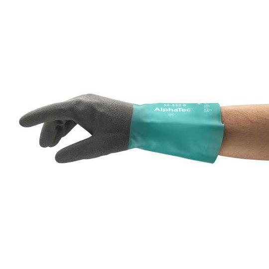 Ansell AlphaTec 58-530 W Käsineet Kemikaalisuojaus, nitriili, nailonvuori Koko 8