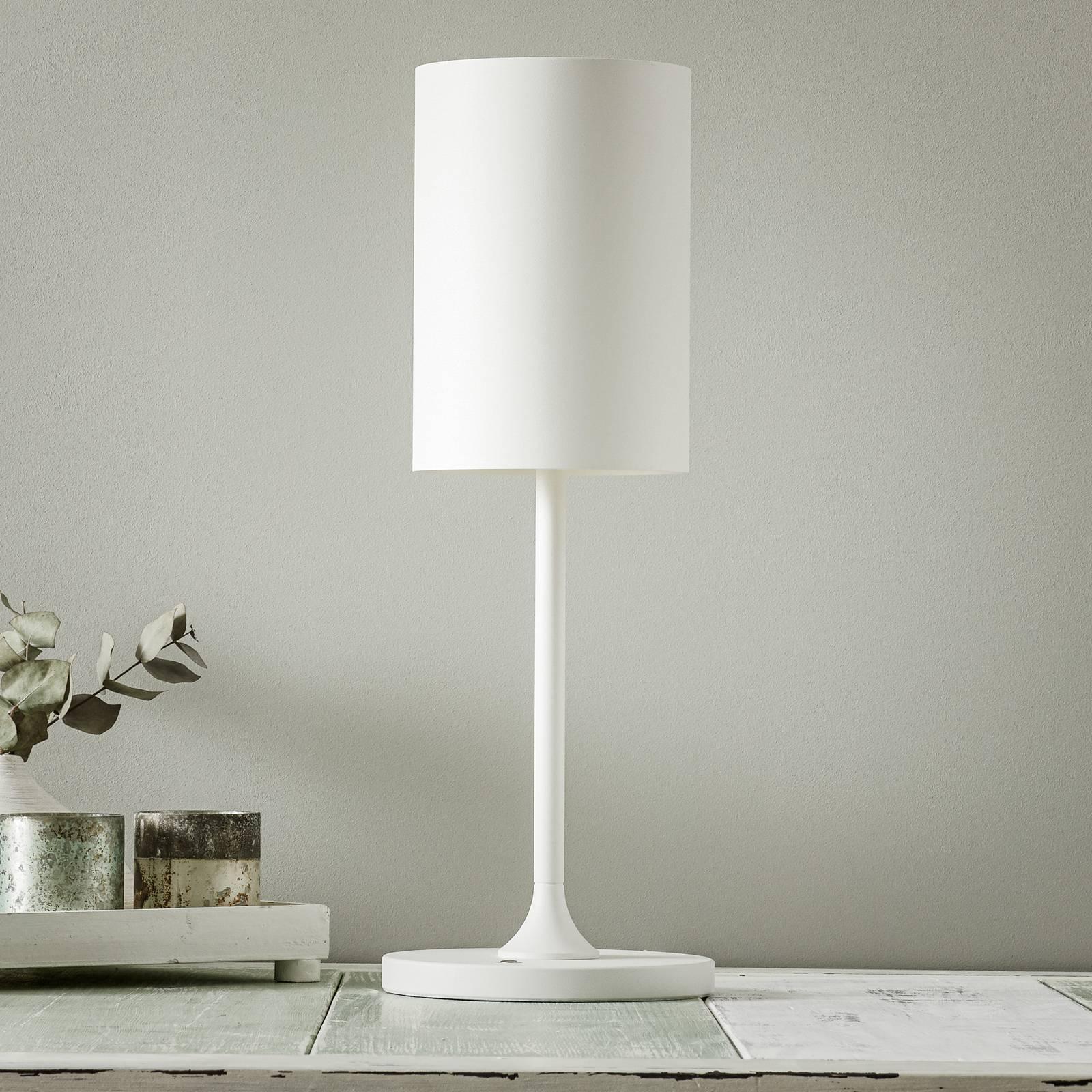 LOUM Pokula -LED-pöytälamppu, valkoinen
