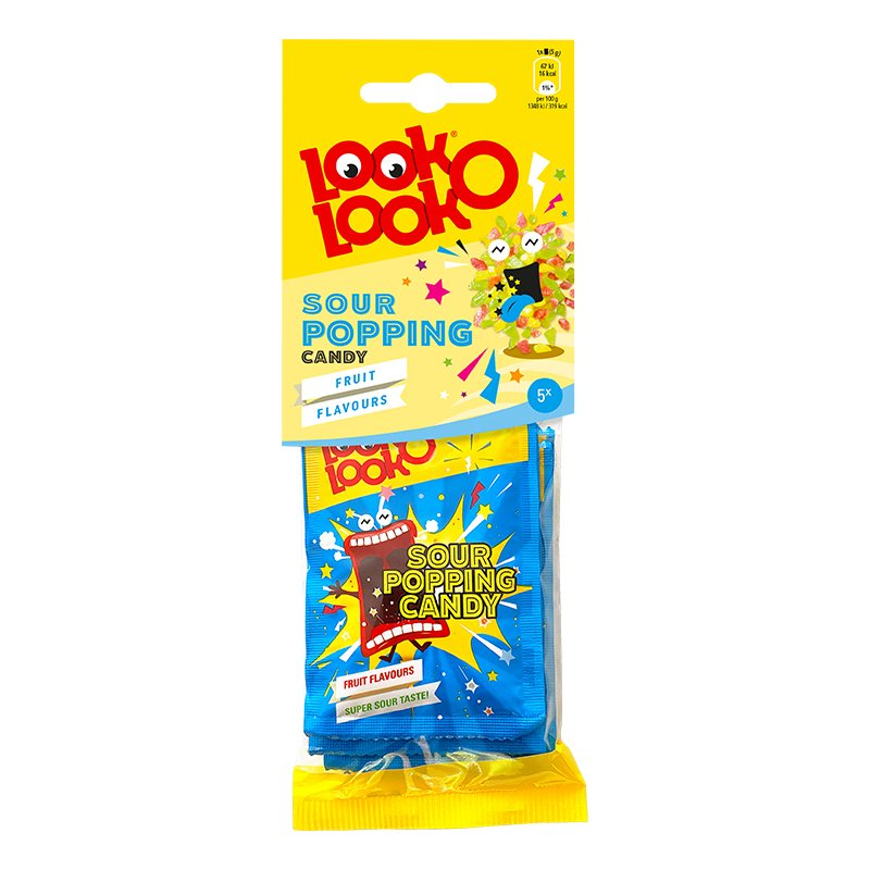 Look-O-Look Sour Popping Godis - 24 gram