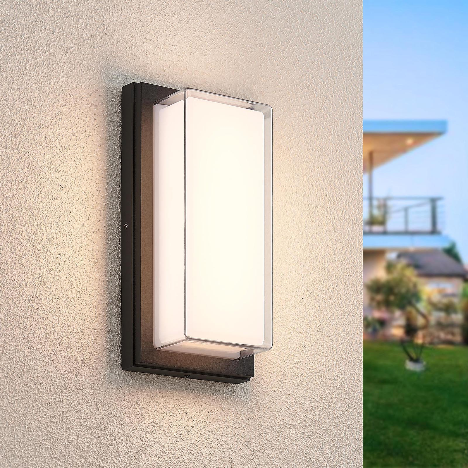 Lindby Aluki -LED-ulkoseinälamppu, suorakulmainen