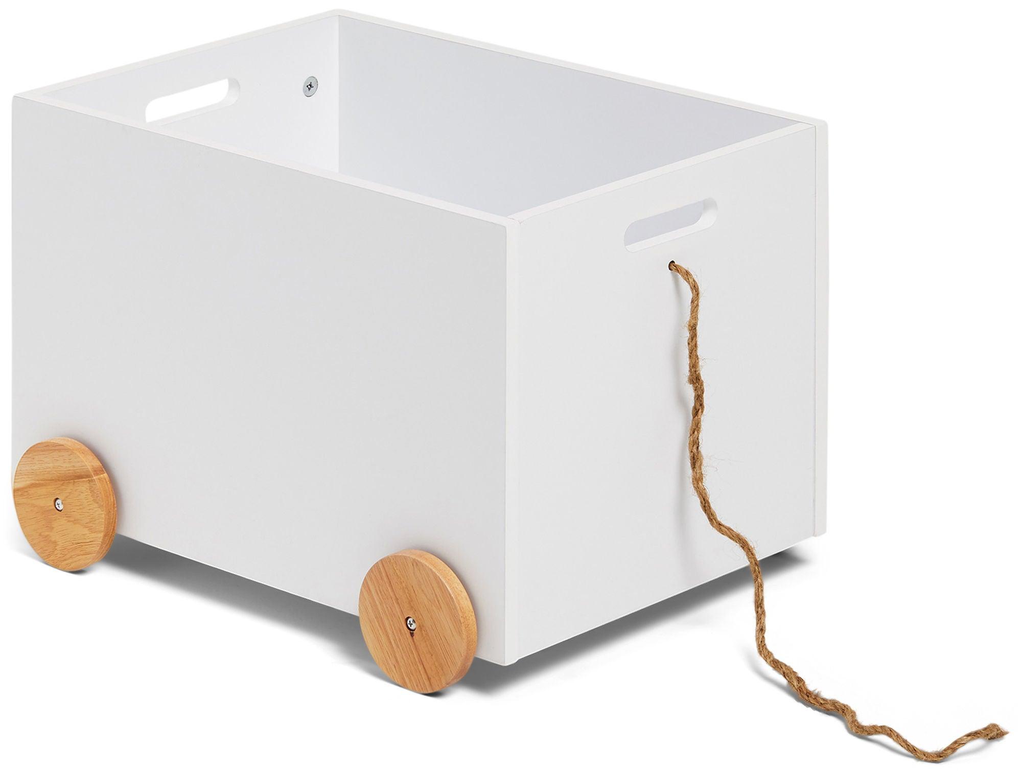 Alice & Fox Säilytyslaatikko Pyörillä, Valkoinen