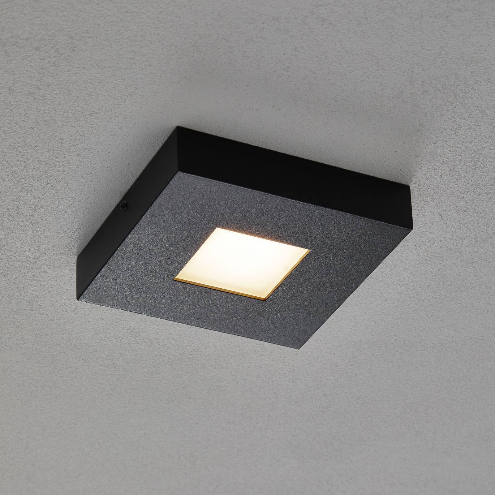 LED-taklampe Cubus i svart