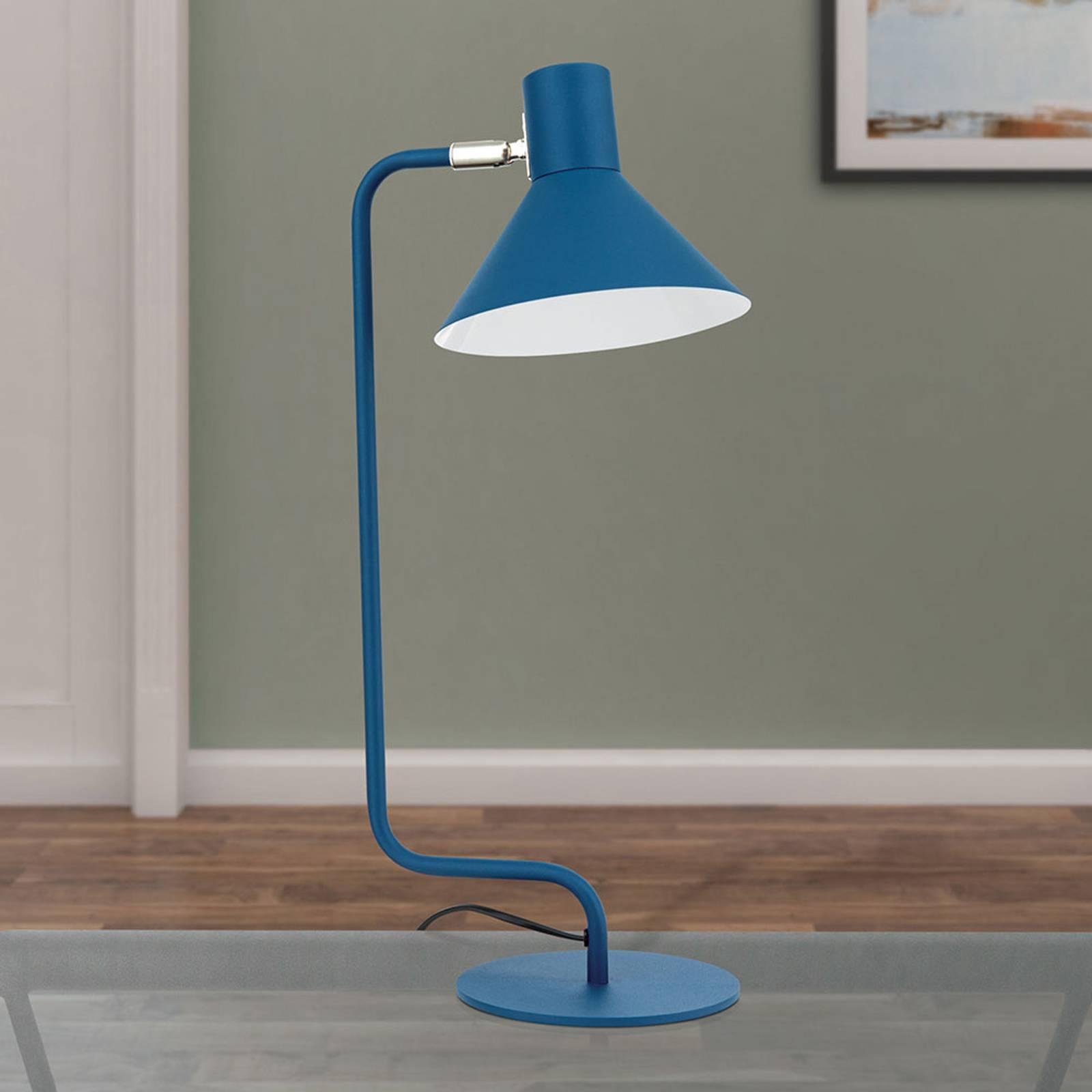 Työpöytälamppu Viktoria, säädettävä pää, sininen