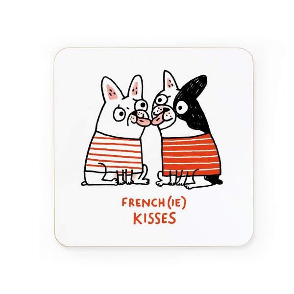 Frenchie Kisses You Coaster