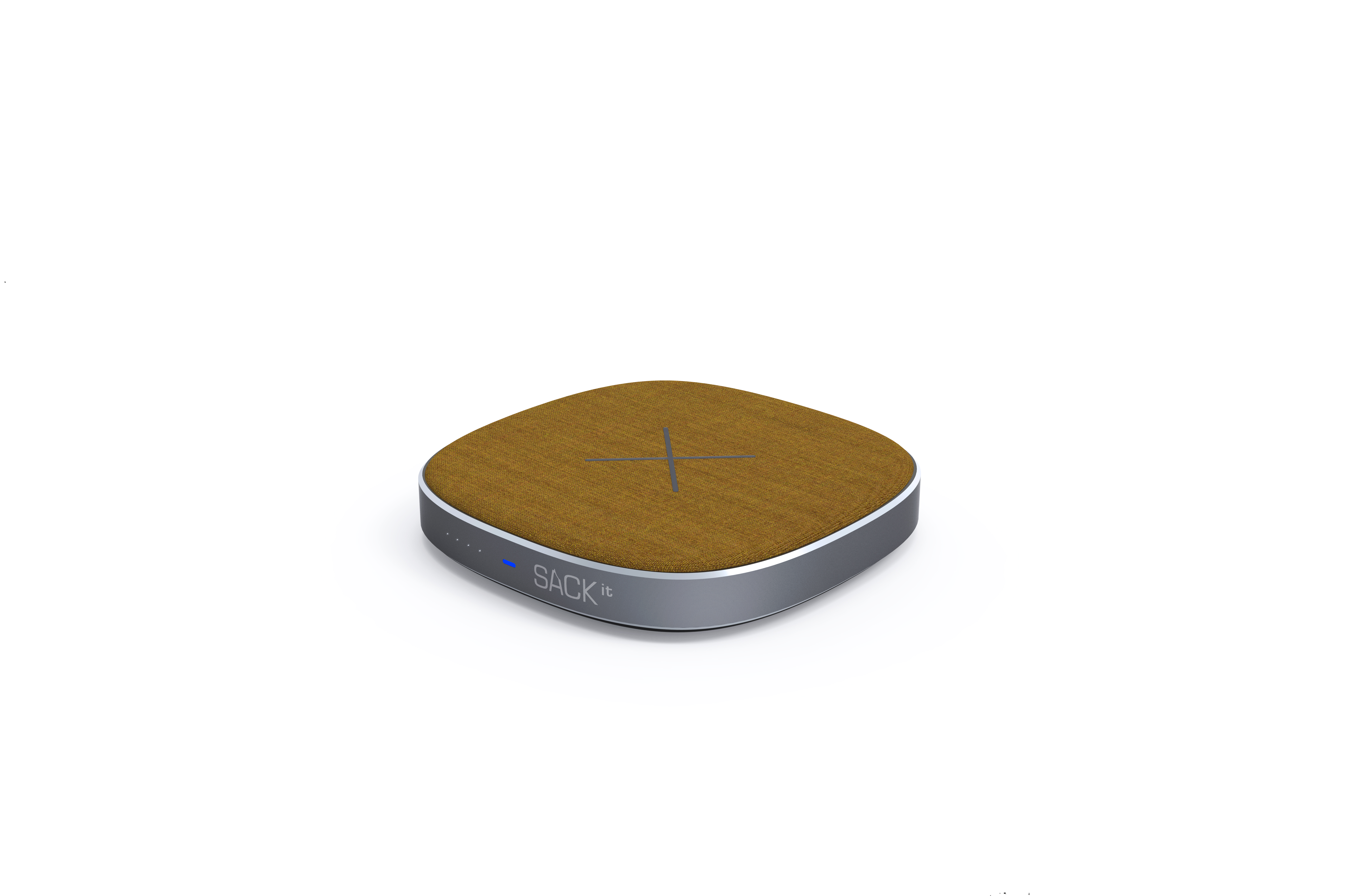 SACKit CHARGEit - Power Bank & wireless Charger ( Curry )