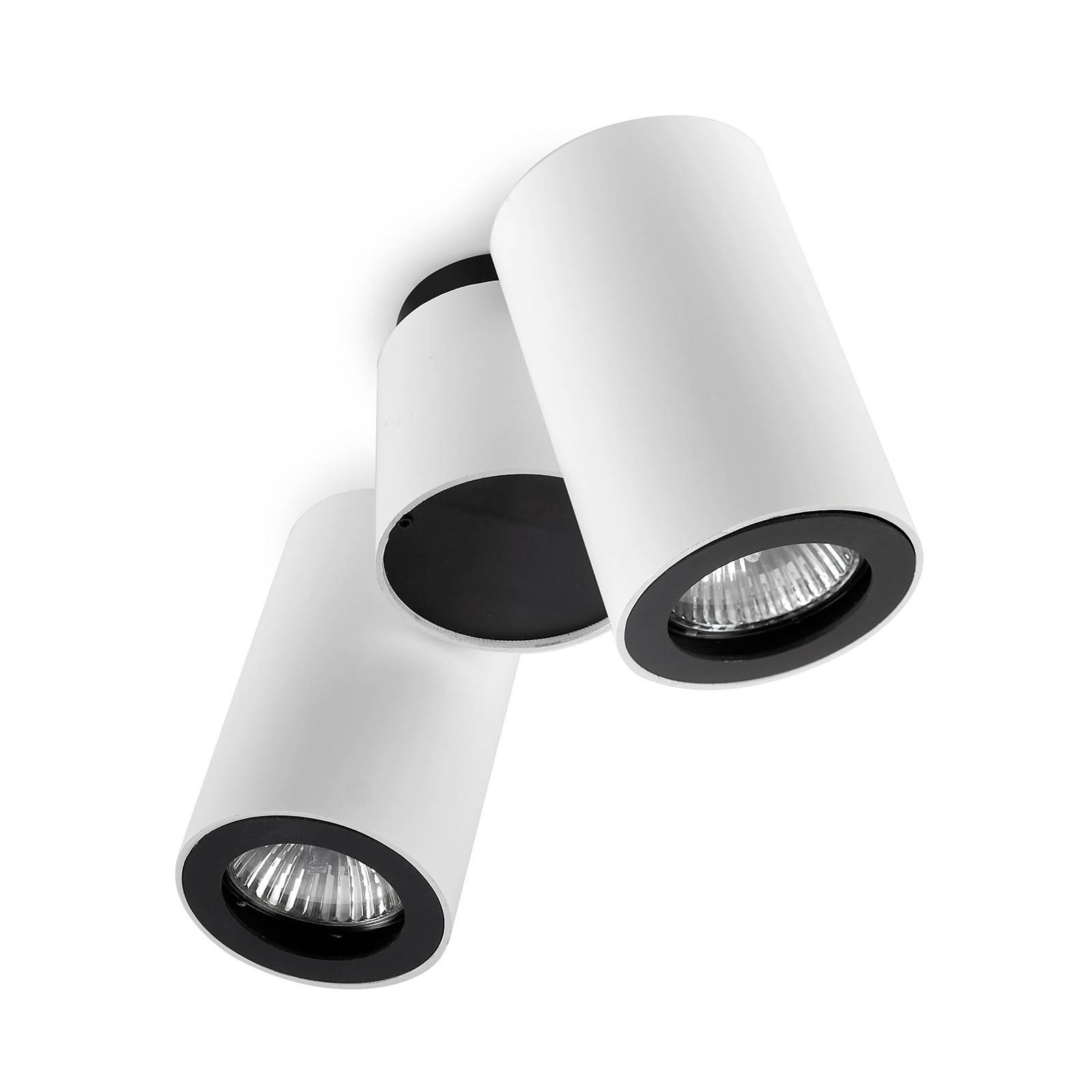 LEDS-C4 Pipe -kattospotti 2-lamp. valkoinen-musta