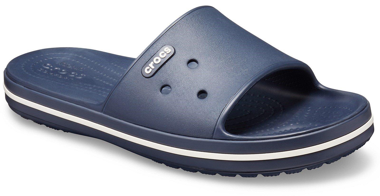 Crocs Women's Crocband III Slide Slip On Flip Flop Various Colours 28727 - Navy/White 3