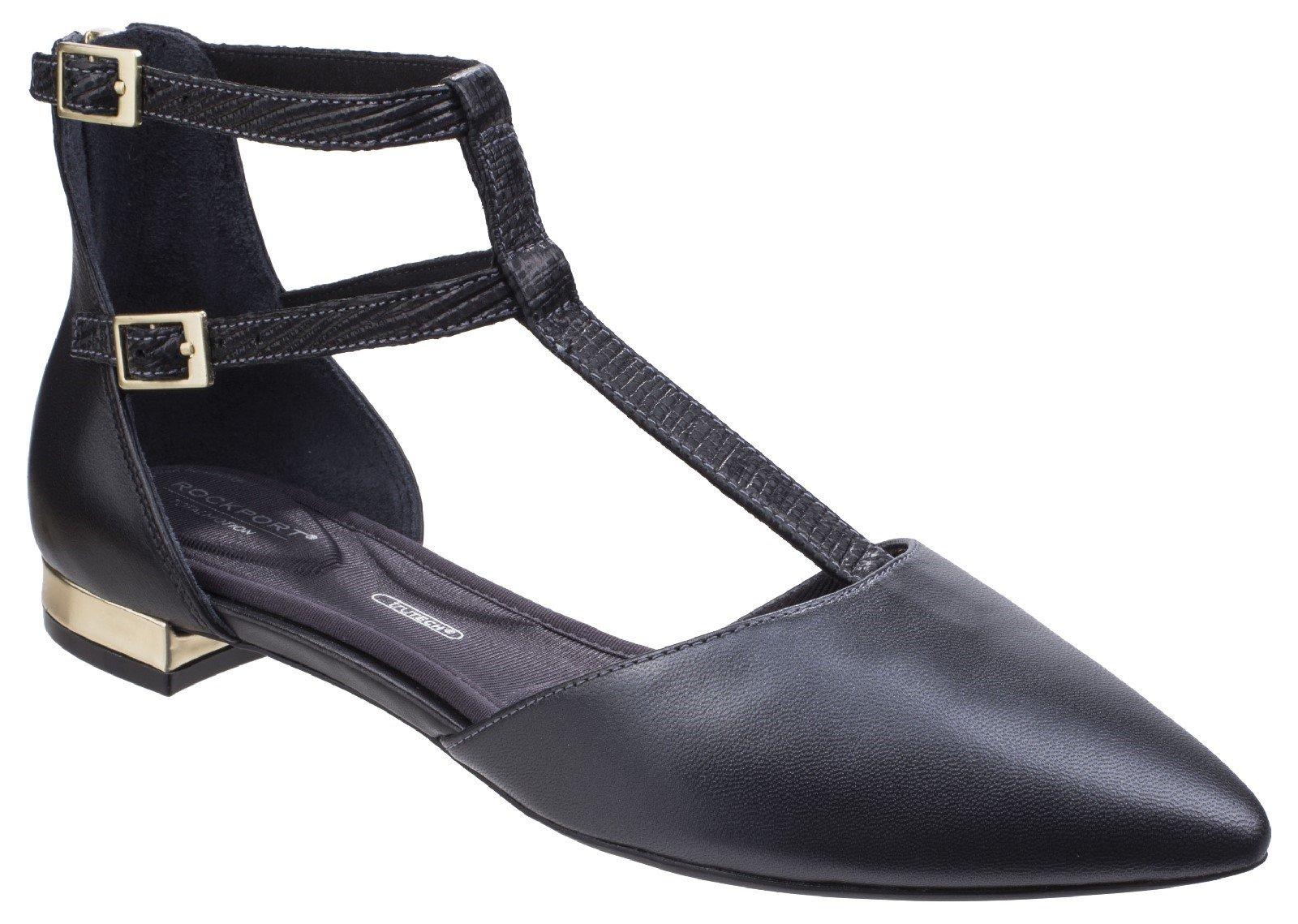 Rockport Women's Adelyn T Strap Heel Shoe Various Colours 26798 - Black 4