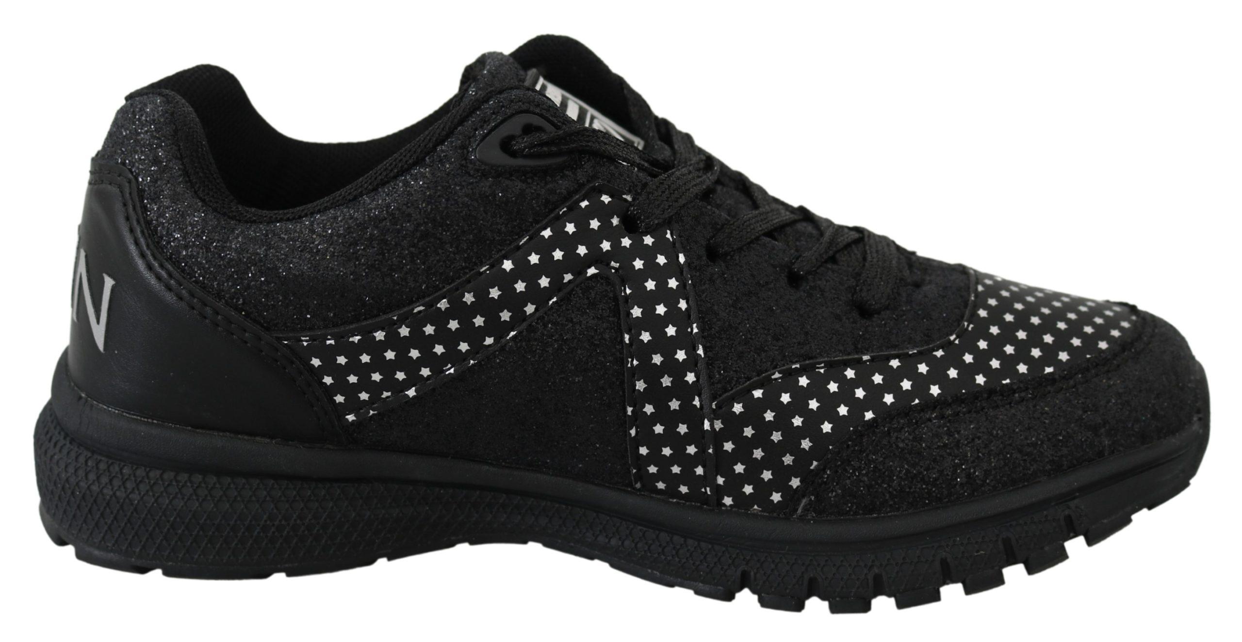 Black Polyester Runner Jasmines Sneakers Shoes - EU38/US8