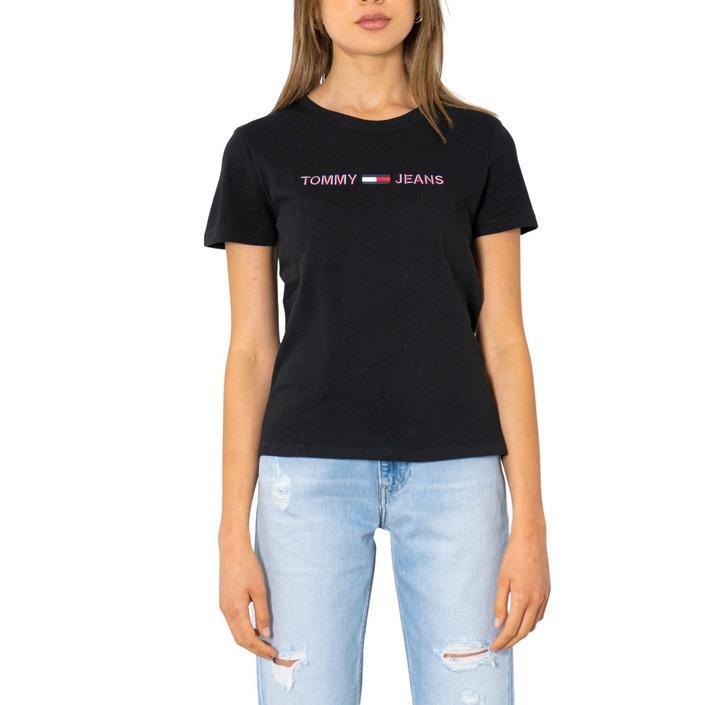 Tommy Hilfiger Jeans Women's T-Shirt Black 299907 - black M