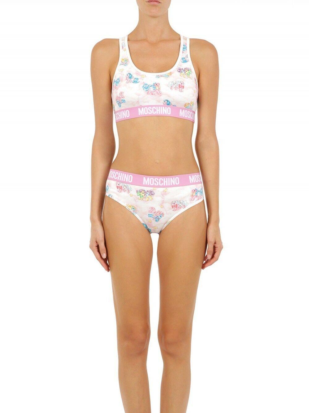 Moschino Women's Two-Piece Sleepwear Pony Bikini Multicolor TSH5089 - IT36 | XS