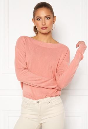 ONLY Amalia L/S Boatneck Pullover Blush XS