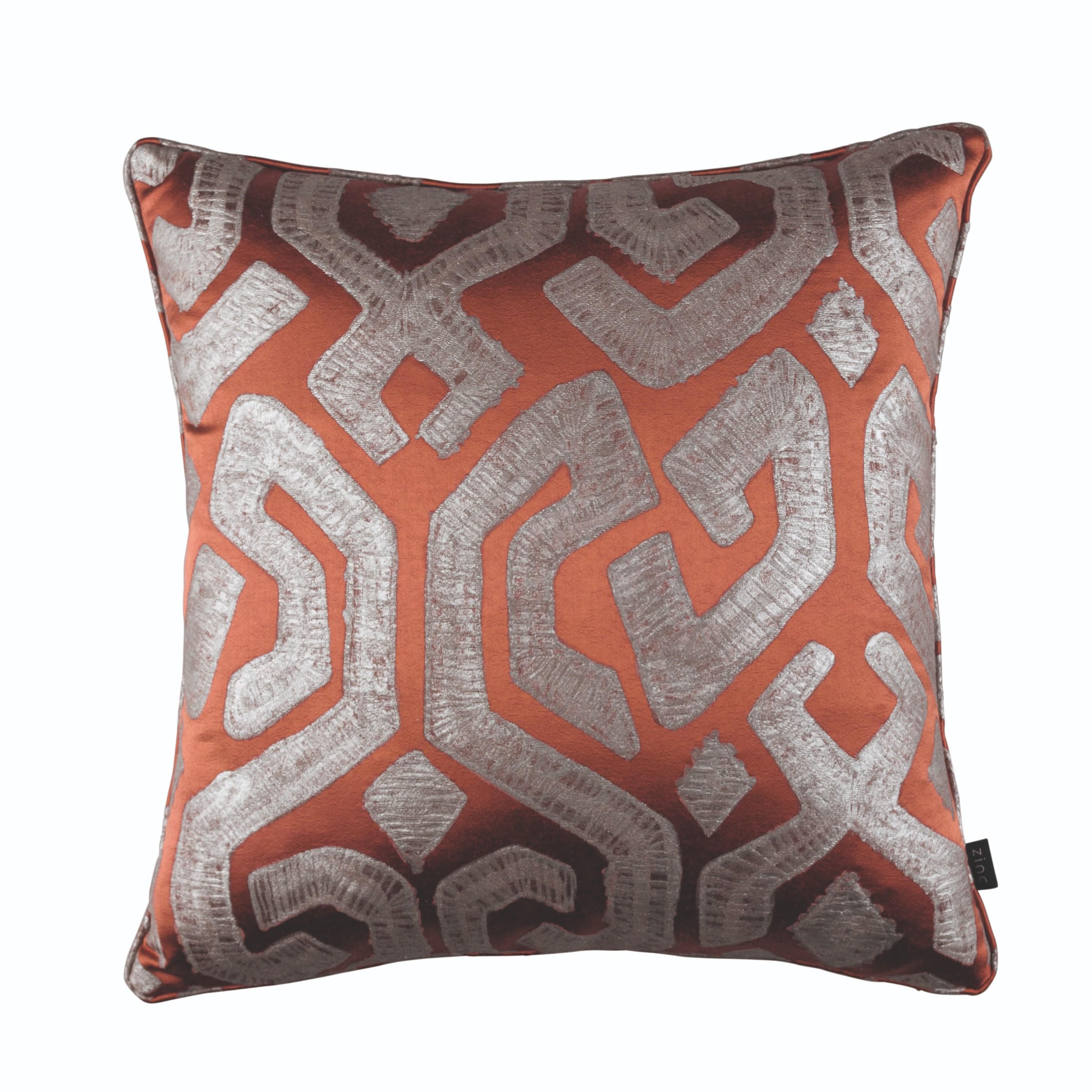 Zinc Romo I Dammuso Cushion | Ember 50x50cm